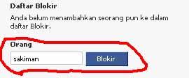 ngeblok teman FB 2