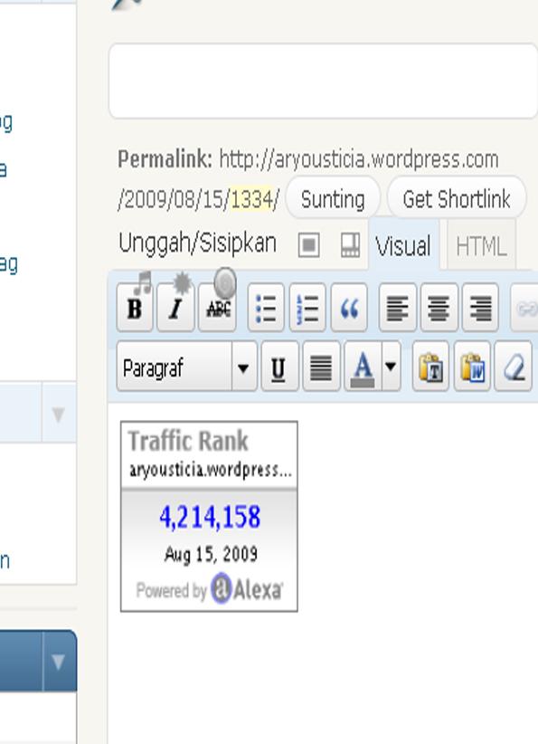 gambar cara mudah memasang alexa di wordpress